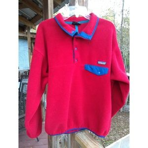 Patagonia Synchilla Red T-Snap Fleece Pullover